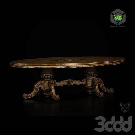 oval classic dinning table (3ddanlod.ir)