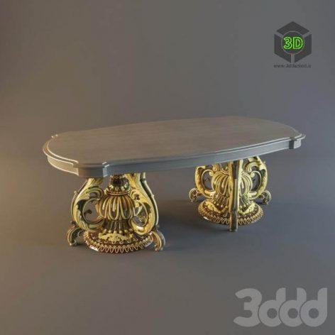 dinning table gold (3ddanlod.ir)