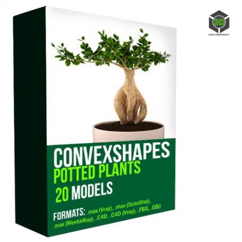 CGAxis - Convexshapes_Potted_Plants cover (3ddanlod.ir)