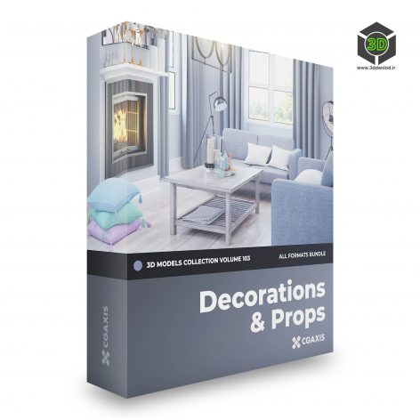 CGAxis Decorations 3D Models Collection Volume 103 cover(3ddanlod.ir)
