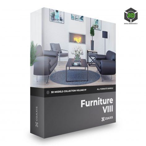 CGAxis Furniture 3D Models Collection Volume 97 cover (3ddanlod.ir)