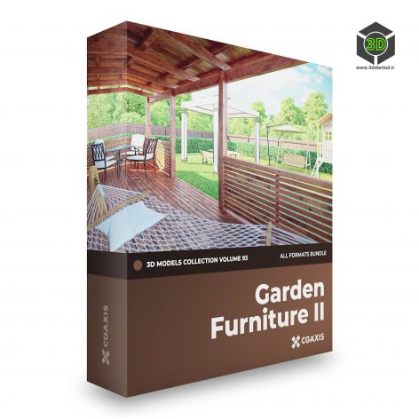 CGAxis Garden Furniture 3D Models Collection V.93 cover (3ddanlod.ir)