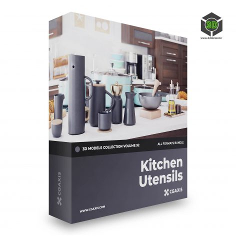 CGAxis - Kitchen Utensils 3D Models Collection - Volume 92.part1 cover (3ddanlod.ir)