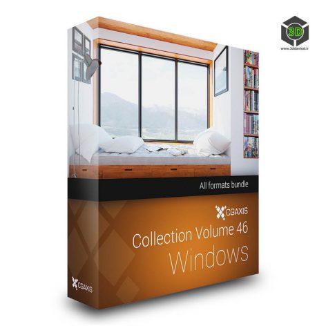 CGAxis Models Volume 46 3D Windows cover(3ddanlod.ir)