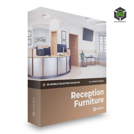 CGAxis Reception Furniture 3D Models Collection Volume 102 cover(3ddanlod.ir)