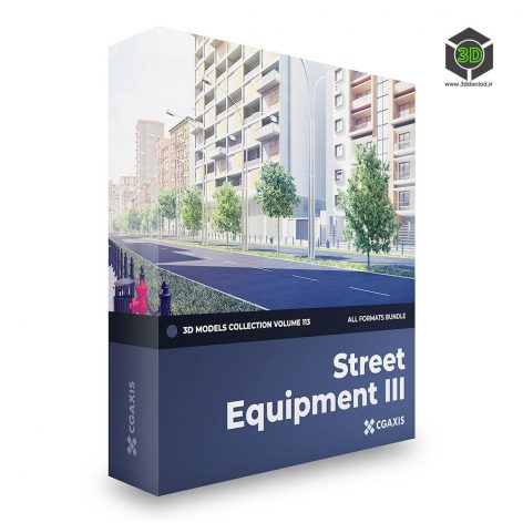 CGAxis - Street Equipment III 3D Models Collection - Volume 113 (all formats) cover (3ddanlod.ir)