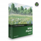 CGAxis Wild Plants 3D Models Collection Volume 91 cover (3ddanlod.ir)