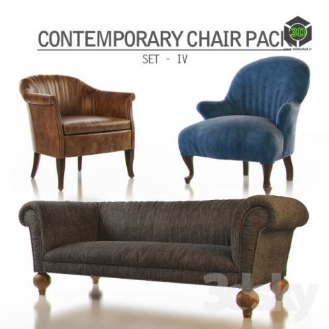 Contemporary Chair Pack – Set IV (3ddanlod.ir) 001