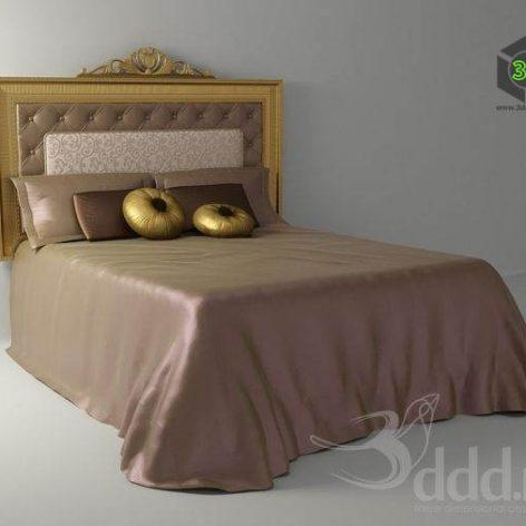 دانلود مدل سه بعدی تخت خواب کلاسیک 296