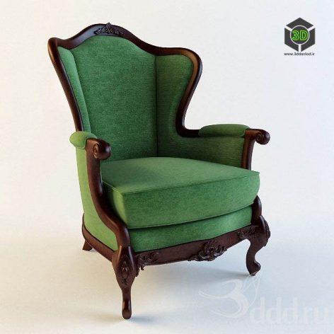 دانلود مدل سه بعدی صندلی کلاسیک 372