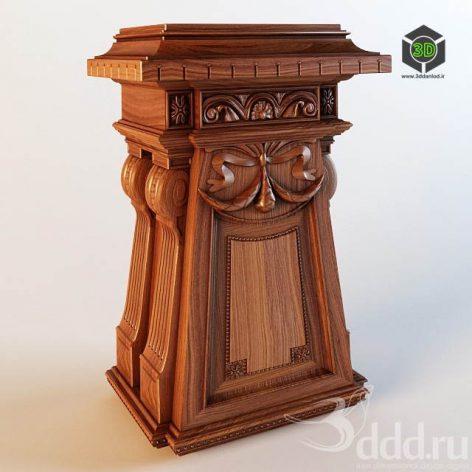 Antique_Column Base_Stand (3ddanlod.ir)