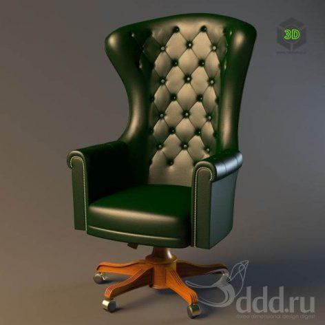 دانلود مدل سه بعدی صندلی مدیریت کلاسیک 109