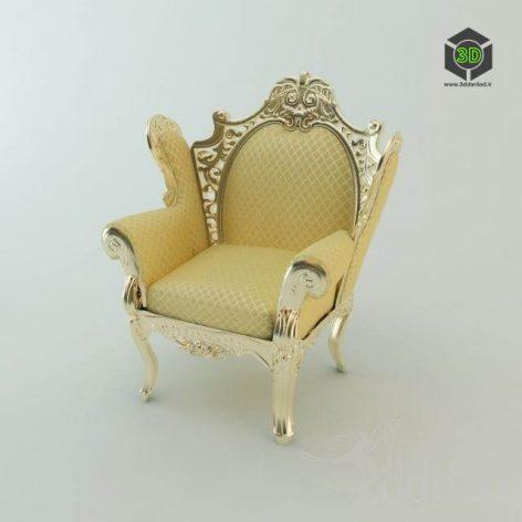 دانلود مدل سه بعدی صندلی کلاسیک 378