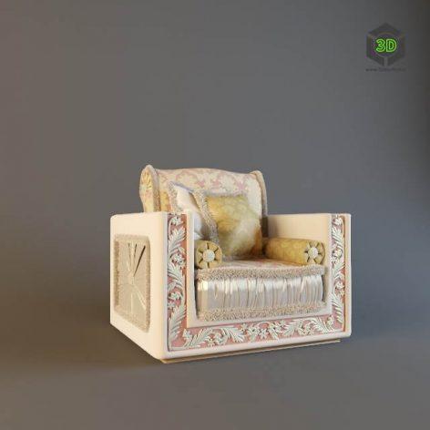 دانلود مدل سه بعدی صندلی پست مدرن 390