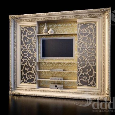 دانلود مدل سه بعدی میز تلویزیون کلاسیک 403
