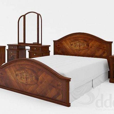 دانلود مدل سه بعدی تخت خواب کلاسیک 304