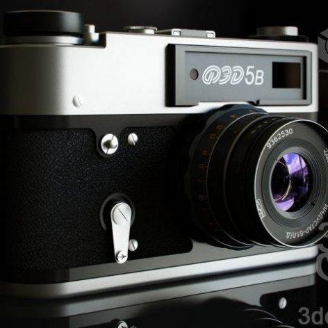 دانلود مدل سه بعدی دوربین عکاسی 028
