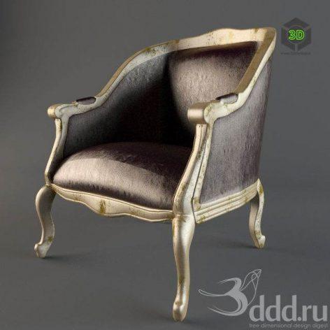 دانلود مدل سه بعدی صندلی کلاسیک 395