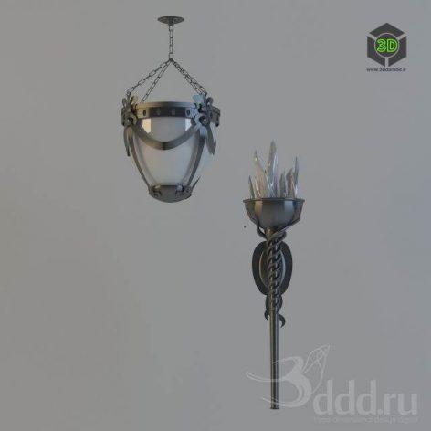 Chandelier_Floorlamp_Antiq (3ddanlod.ir)