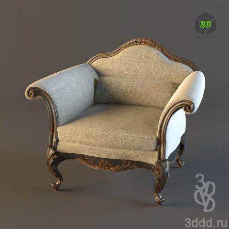 دانلود مدل سه بعدی صندلی کلاسیک 389