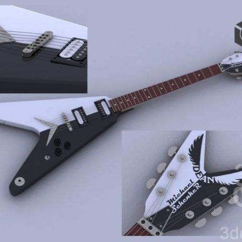 Dean (Michael Schenker) Guitar (3ddanlod.ir)