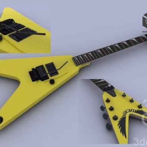 Dean (Michael Schenker) V HT EMG Guitar (3ddanlod.ir)
