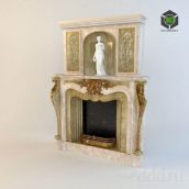 Fireplace_Classic_Uno (3ddanlod.ir)