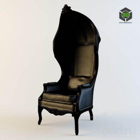 دانلود مدل سه بعدی صندلی کلاسیک 407