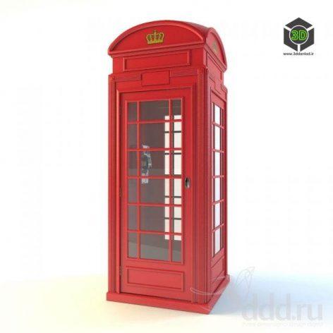 London Telephone Box (3ddanlod.ir)