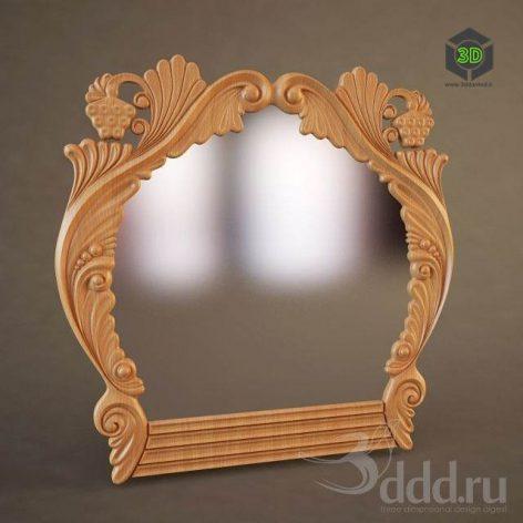 دانلود مدل سه بعدی آینه کلاسیک 054