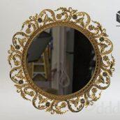 Mirror_classic_Gold Frame (3ddanlod.ir)
