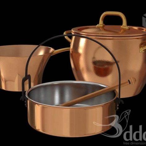 Pans and casserole_Ruffoni (3ddanlod.ir)