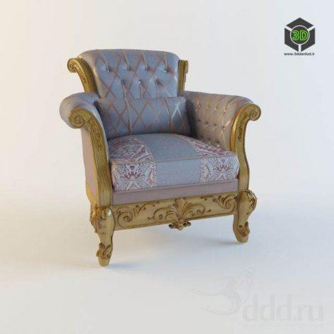 دانلود مدل سه بعدی صندلی کلاسیک 414