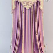 Pink curtain, art-deko (3ddanlod.ir)