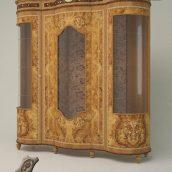 Signorini & Coco_Ambra_3 Door display cabinet with spotlights and fabriс back_Showcase_Bookcase (3ddanlod.ir)