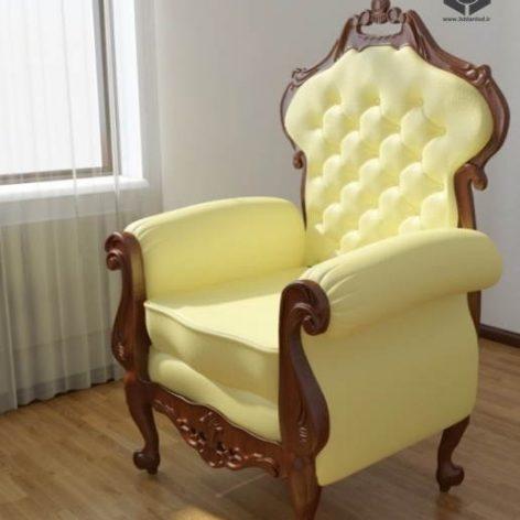دانلود مدل سه بعدی صندلی کلاسیک 382