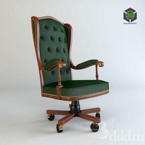 دانلود مدل سه بعدی صندلی مدیریت کلاسیک 110