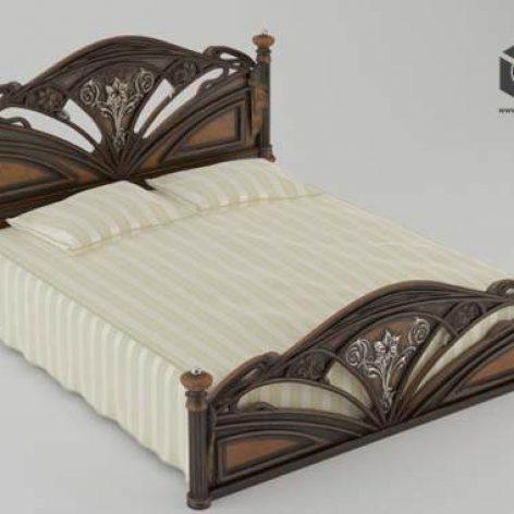 دانلود مدل سه بعدی تخت خواب کلاسیک 302