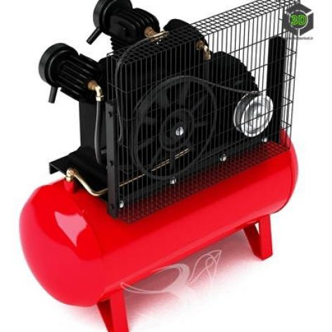 دانلود مدل سه بعدی دستگاه کمپرسور 054