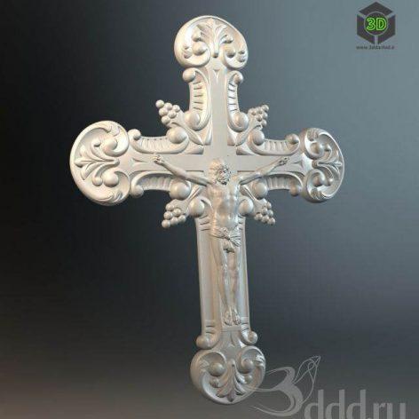 cross crucifix molding decor (3ddanlod.ir)