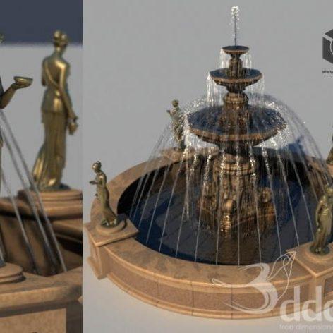 دانلود مدل سه بعدی آبنما 017