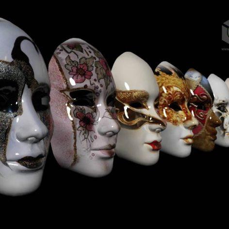 set of Venetian masks (3ddanlod.ir)