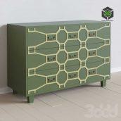 Большой зеленый комод Emerald(3ddanlod.ir)
