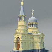 Church. Temple. Chapel (3ddanlod.ir)