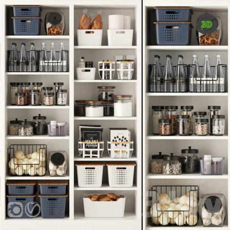 Decorative Kitchen Set 3 001 (3ddanlod.ir)