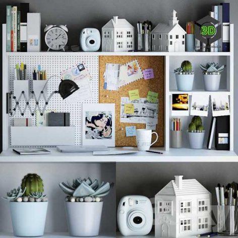 Decorative Set for Your Desktop(3ddanlod.ir) 202