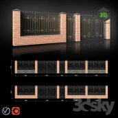 Fence with Gates and Wicket(3ddanlod.ir) 039