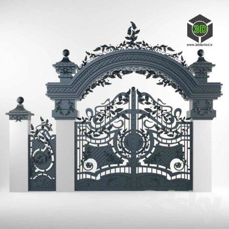 Gate Forged Arched(3ddanlod.ir) 043