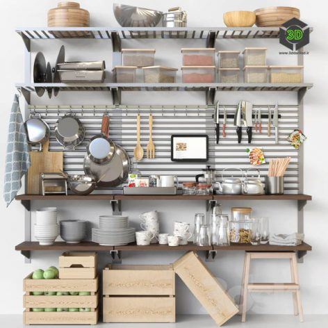 Set-369 Kitchen shelving 001 (3ddanlod.ir)