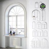 Set Classical Arched Windows with Decor(3ddanlod.ir) 034